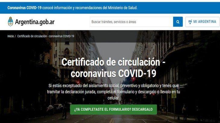 Habilitada: la página web para tramitar el nuevo certificado de circulación ya está disponible.